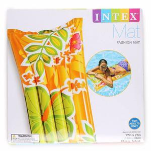 NEW Intex Fashion Mat Inflatable Tropical Pool Lounge Orange