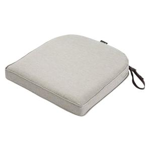 Patio Seat Cushion Slip Cover, Heather Grey, 23X23 Classic