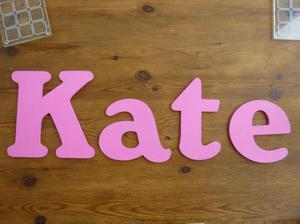 """Pink """"Kate"""" Wooden Wall Decoration"""