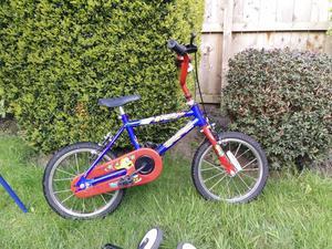 Raleigh bike with stabilisers(Age range 3-5yrs)