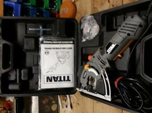 titan 500w mini circular saw