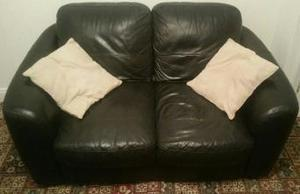2 leather sofas for sale.