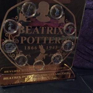 24k Gold Plated  Beatrix Potter coins