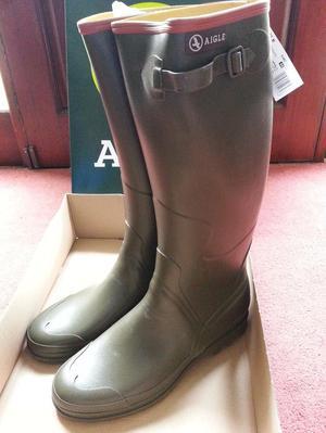 Aigle Benylsport M Wellies Brand New in Box - Size 46 (UK11)