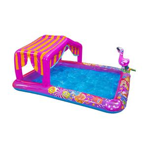 "Banzai Cabana Fun Splash Pool (74""L Inflatable Backyard Aqua"