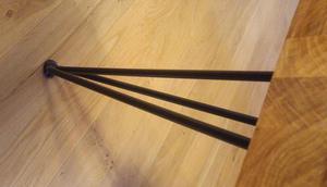 Bespoke oak coffee table with hairpin legs