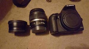 Canon 500D + bag and 2 lenses