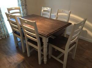 Dining room table and chairs -practically new!