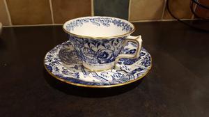 Royal Crown Derby Blue Mikado Cup & Saucer