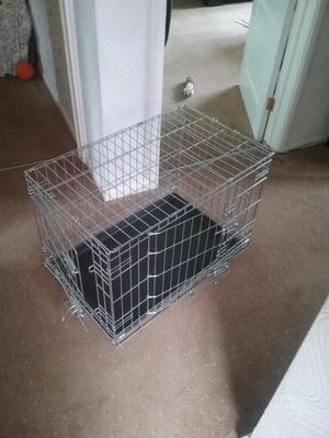Small double door dog crate