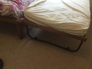 Solid Pine Single Bed with Pull out Guest Bed