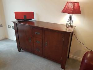 Solid wood sideboard and coffee table
