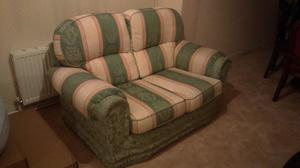 Two Seat, Fabric Sofa. Used but still in very good condition.