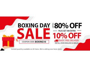 UP TO 80% + FLAT 10% OFF ON BOXING DAY FURNITURE SALE &