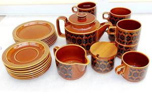 "s Hornsea Pottery Autumn Brown ""Heirloom"" Tea Set"