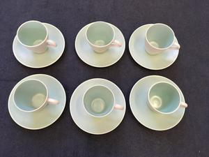 's Poole Pottery Seagull Green Cups and Saucers