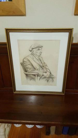 Durham miner pencil drawing