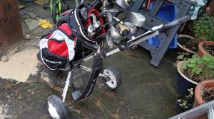 Golf Clubs and Bag with Trolley