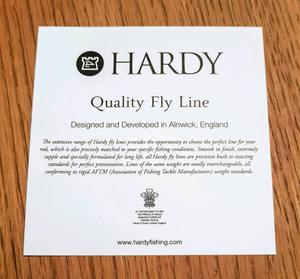 Hardy Premium Floating Fly Line Weight Forward WF-4-F 90ft (32ft head) NEW Boxed rep £