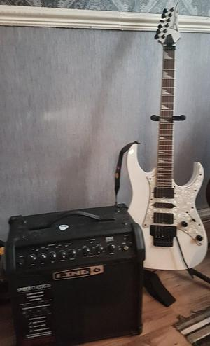 IbanezRG350DX with line 6 spider 15amp