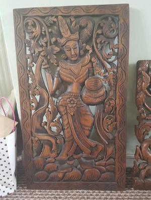 Solid wood wall plaque
