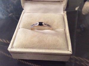 14 ct gold sapphire and diamond ring hallmarkt