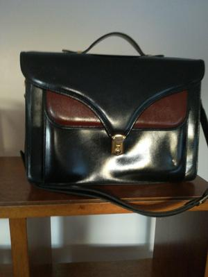 A blank & brown A4 size Womens Briefcase