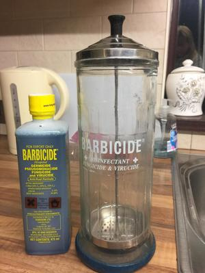 Barbicide and jar