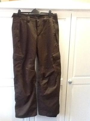 Brown O'Neill ski trousers and jacket