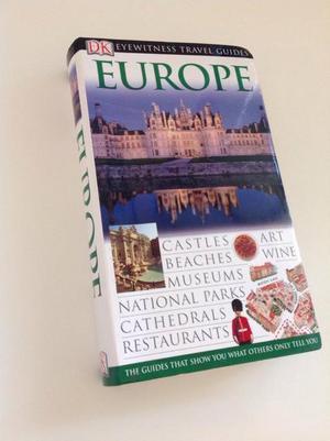 DK eye witness travel guide for Europe.