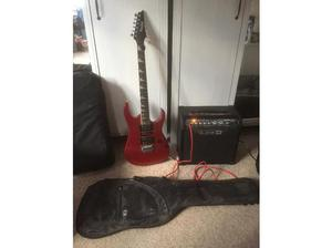 Ibenez electric guitar and Line 6 spider 111 amp in Bideford