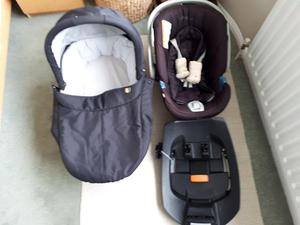 Mammas and Pappas Sola pushchair and Cybex Aton carseat