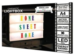 *New & Boxed* LED Cinematic A4 Light Box with Multicoloured