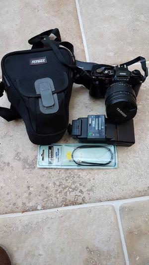 Pentax Program A SLR camera + Tamron mm zoom lens