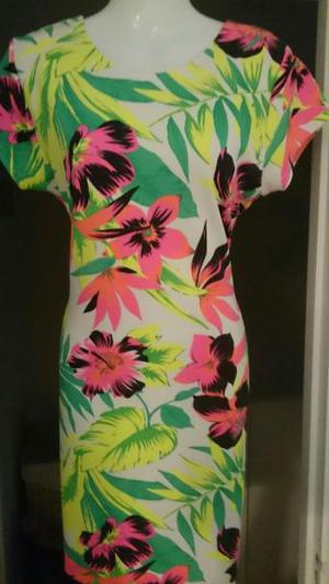 QUIZ Tropical Print Dress in Excellent Condition!