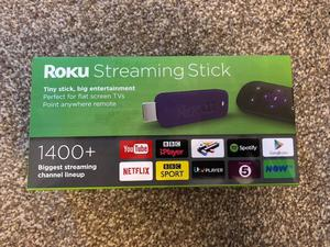 Roku Streaming Stick, Boxed with Accessories