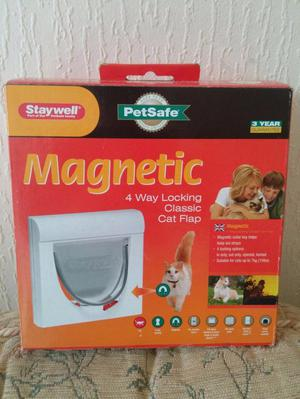 Staywell Magnetic Cat Flap (new still in the box)