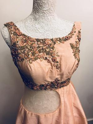 Stunning designer dress in a modern style
