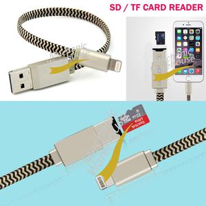 USB i-Flash Drive Lightning Data Cable Memory TF Micro SD