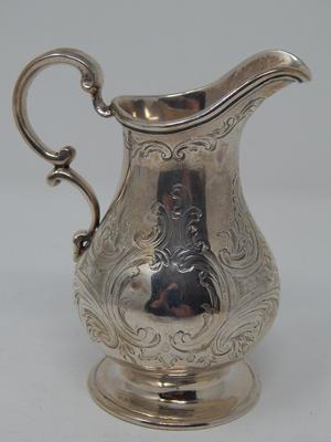 Victorian Solid Silver Cream Jug Hallmarked London  by Arthur Sibley