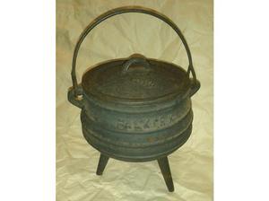 Antique Falkirk Cast Iron Cooking Pot / Cauldron # 1/2