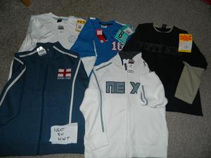 Boys 8-13yrs Next New with tag clothes
