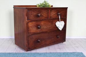 DELIVERY OPTIONS - OLD 4 DRAWER CHEST OF DRAWERS CHUNKY
