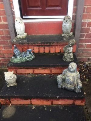 HEAVY STONE GARDEN ORNAMENTS - £3 EACH