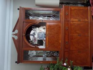 Three door display cabinet
