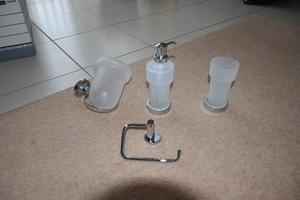 Valsan Set of 4 Wall Mountable Bathroom Accessories