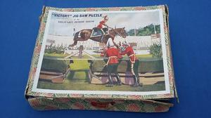 """Vintage Wood Victory Jigsaw Puzzle - """"A Military Horse Show"""""""