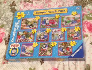 10 IN A BOX PUZZLES FROM RAVENSBURGER. THOMAS & FRIENDS. COMPLETE AND VGC.