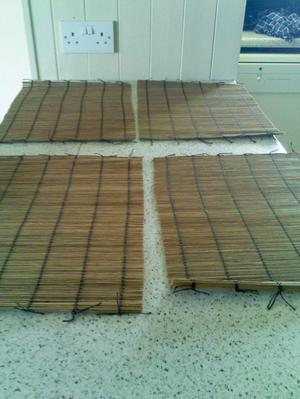 4 Bamboo Place Mats. As new