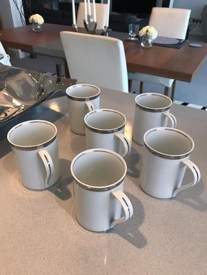 6 MARKS & SPENCER PLATINUM COFFEE (OR TEA!) MUGS